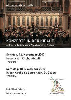 Flyer Konzerte in der Kirche 2017